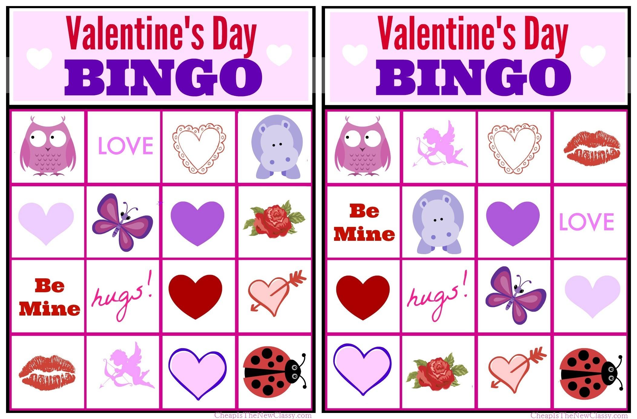 Free Valentine Bingo Game Printable Collection For Kids - Free Printable Valentine Game