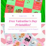 Free Valentine's Day Printables! | Budget Earth   Free Printable Dog Valentines Day Cards