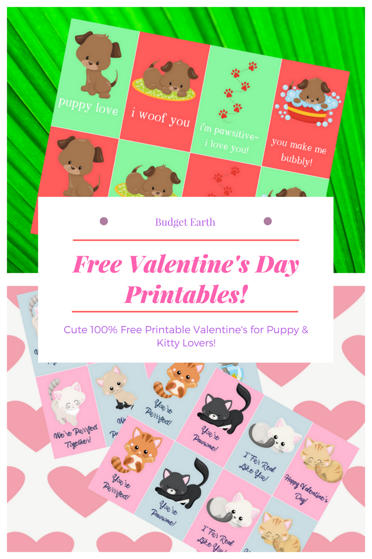 Free Valentine's Day Printables! | Budget Earth - Free Printable Dog Valentines Day Cards