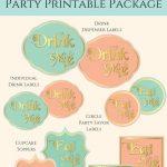 Free Vintage Alice In Wonderland Party Printables | Fabnfree   Alice In Wonderland Cupcake Toppers Free Printable