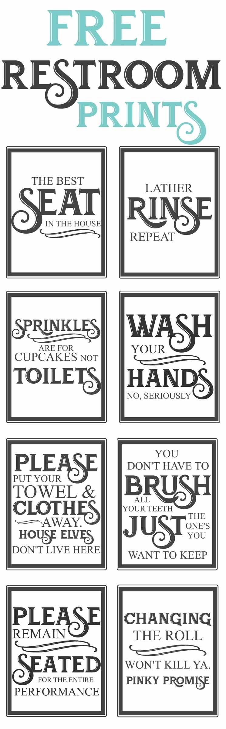 Free Vintage Bathroom Printables | Diy | Vintage Bathrooms, Diy Home - Free Funny Bathroom Printables