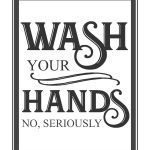 Free Vintage Bathroom Printables | Printables ** | Budget Bathroom   Free Wash Your Hands Signs Printable