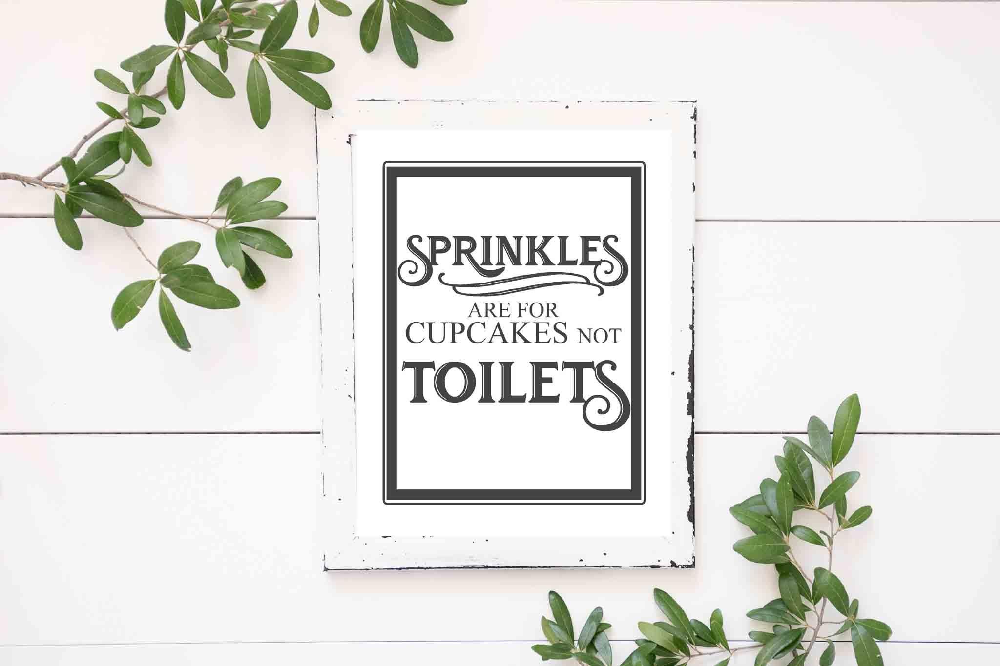Free Vintage Bathroom Printables - The Mountain View Cottage - Free Funny Bathroom Printables