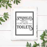Free Vintage Bathroom Printables   The Mountain View Cottage   Free Printable Bathroom Quotes