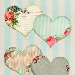 Free Vintage Printable Hearts   Free Pretty Things For You   Free Vintage Printables