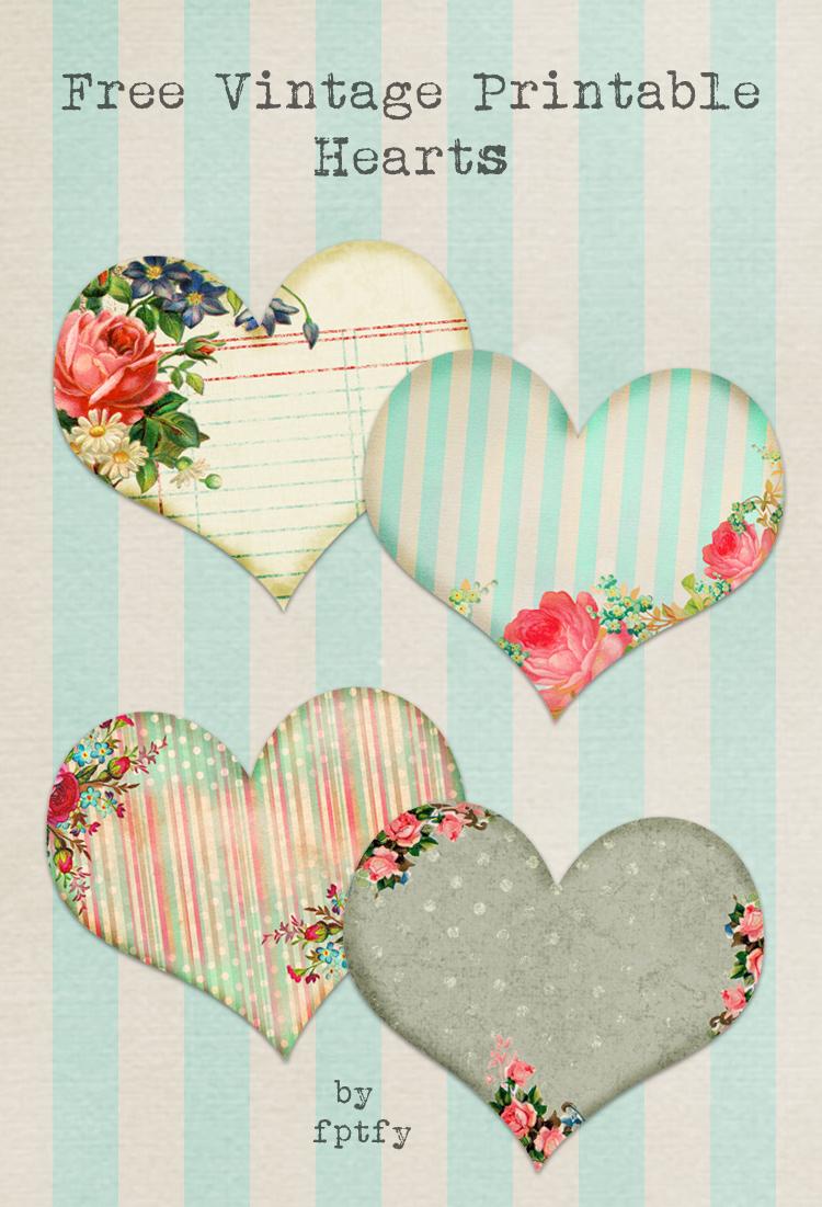 Free Vintage Printable Hearts - Free Pretty Things For You - Free Vintage Printables