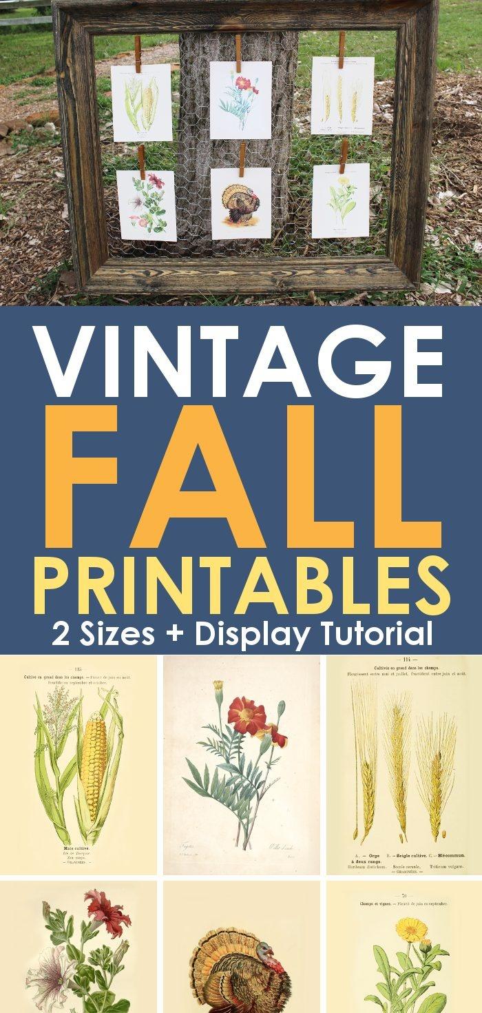 Free Vintage Printables For Fall - Free Vintage Printables