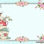 Free Vintage Tea Party Baby Shower | Free Printable Birthday   Free Printable Vintage Tea Party Invitations