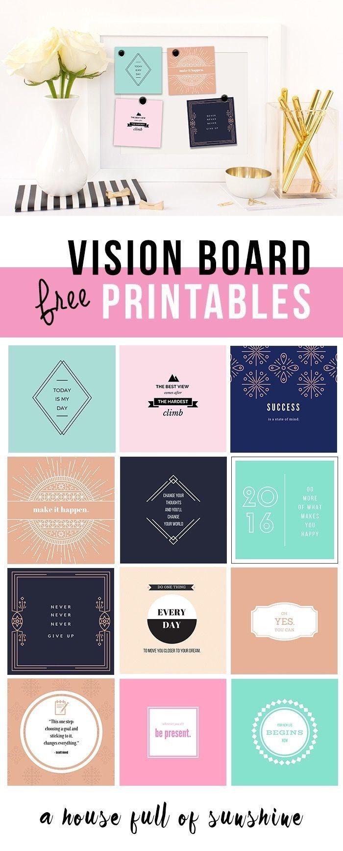 Free Vision Board Printables #247Moms | Free Printables | Goal Board - Free Vision Board Printables Pdf