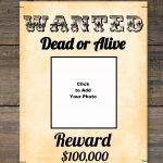 Free Wanted Poster Maker | Make A Free Printable Wanted Poster Online   Free Printable Poster Maker