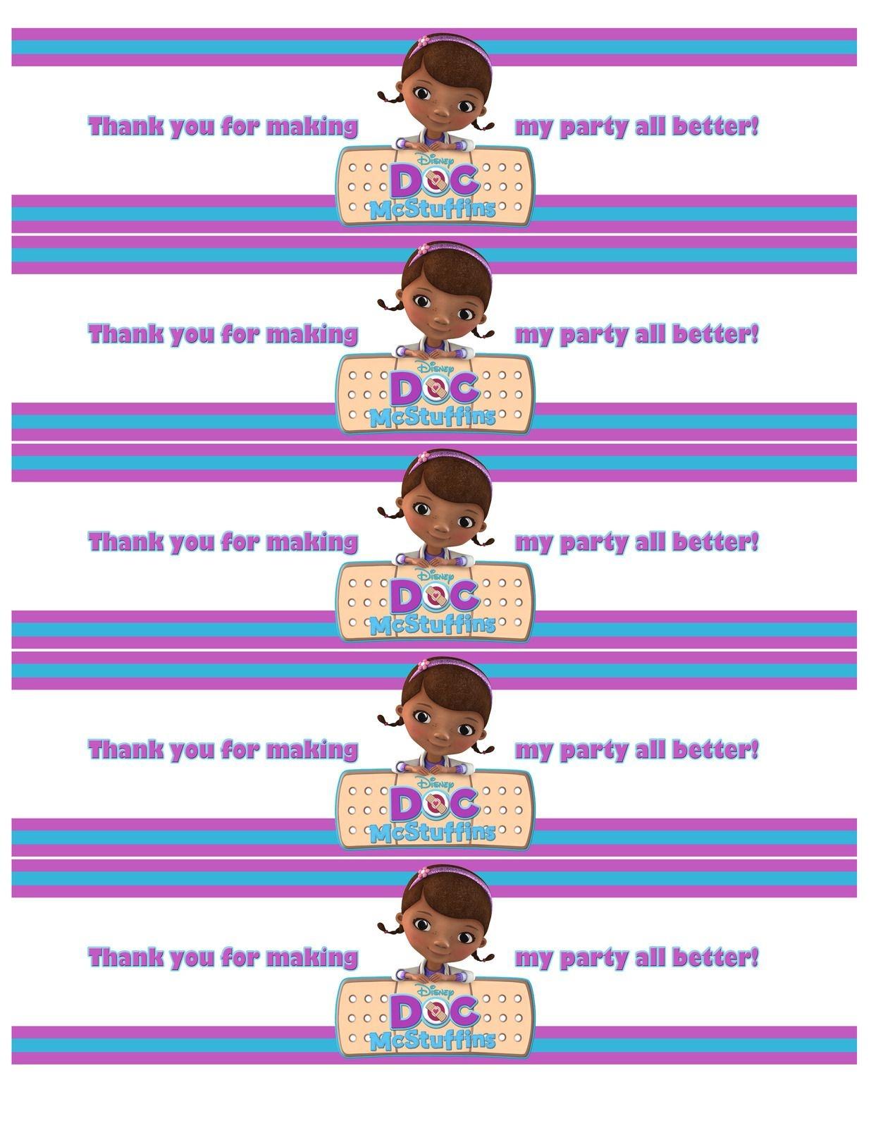 Free Water Bottle Label Printables Doc Mcstuffins (1236×1600) | Doc - Free Printable Doc Mcstuffins Food Labels