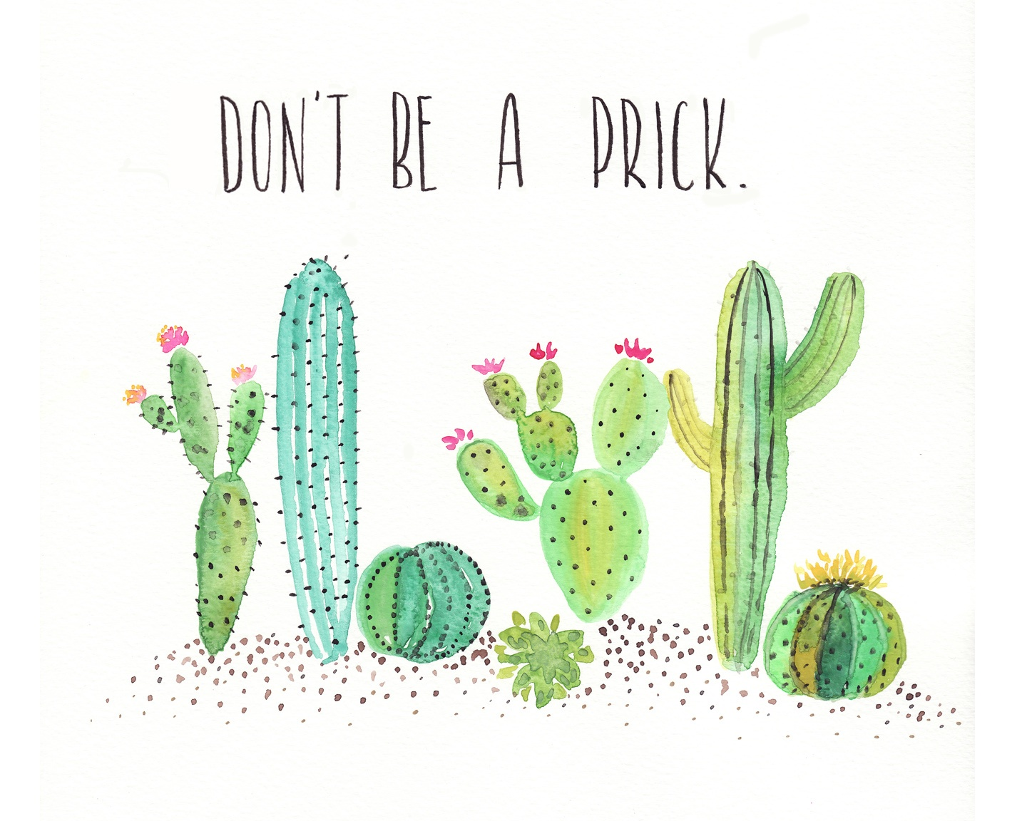 Free Watercolor Cactus Printable - One Project Closer - Free Cactus Printable