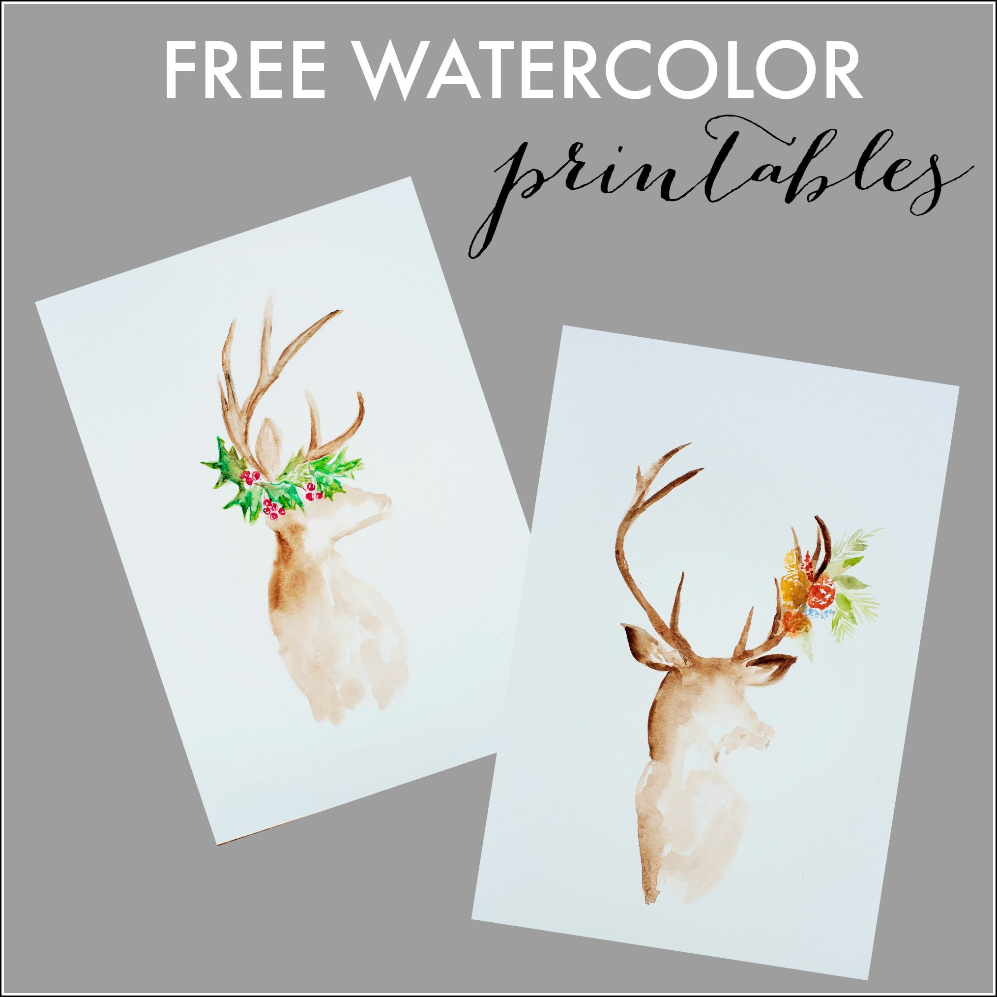 Free Watercolor Fall Printable | Printables | Calendario De Adviento - Free Watercolor Printables