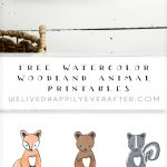 Free Watercolor Forest Woodland Animal Nursery Prints | We Lived   Free Woodland Animal Printables