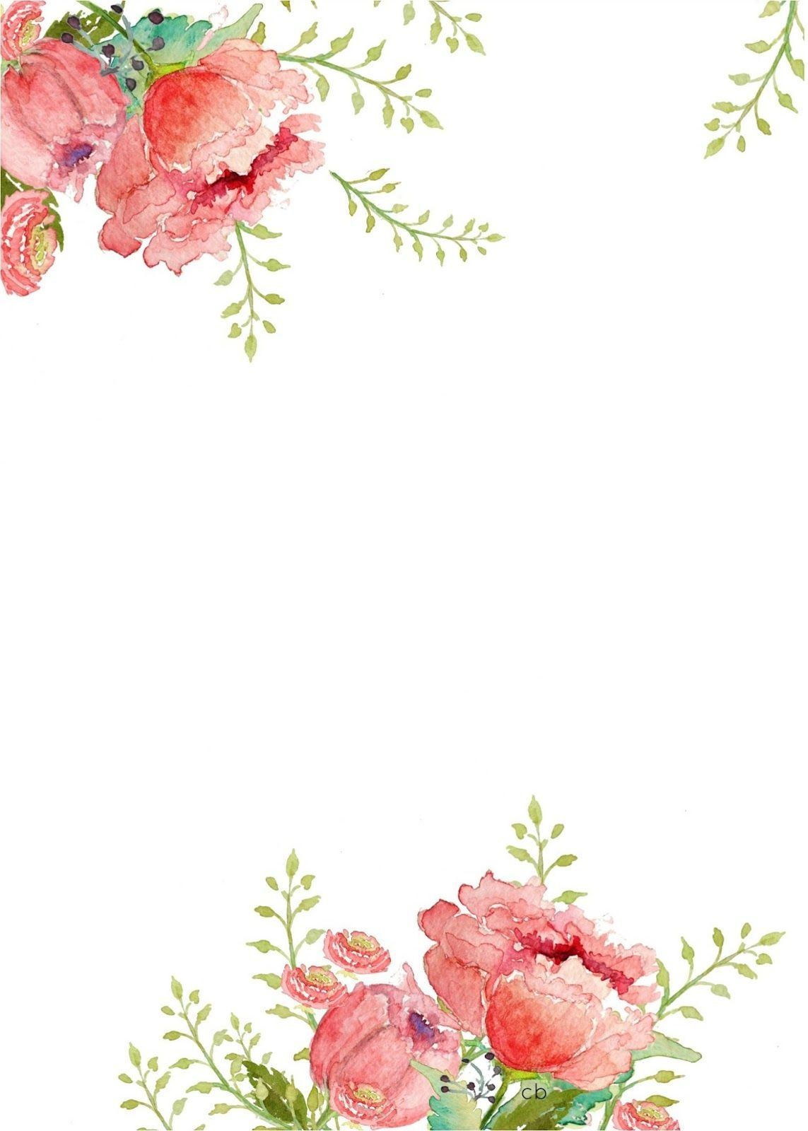 Free Watercolor Printable | Scrapbook And Paper Crafts | Borders For - Floral Printables Free