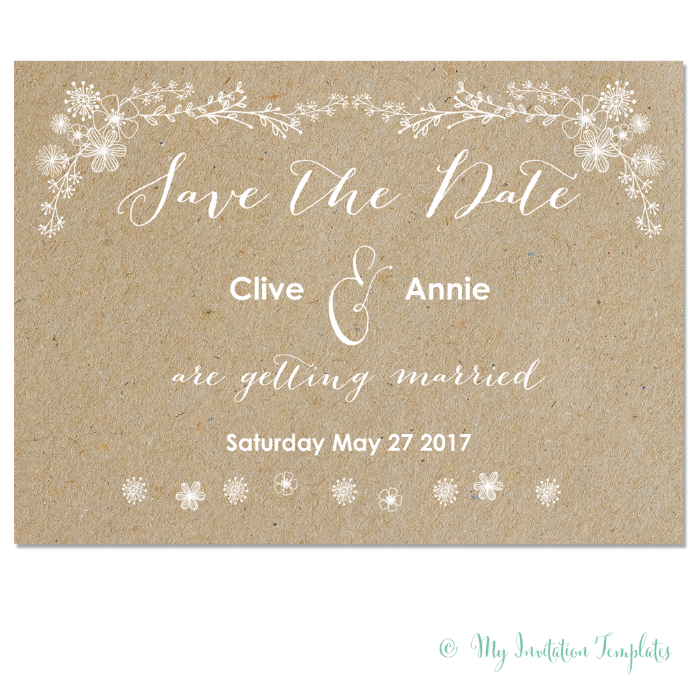 Free Whimsical Save The Dates | Wedding | Save The Date, Backyard - Free Printable Save The Date Templates