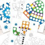 Free Winter Do A Dot Printables   Easy Peasy Learners   Do A Dot Art Pages Free Printable