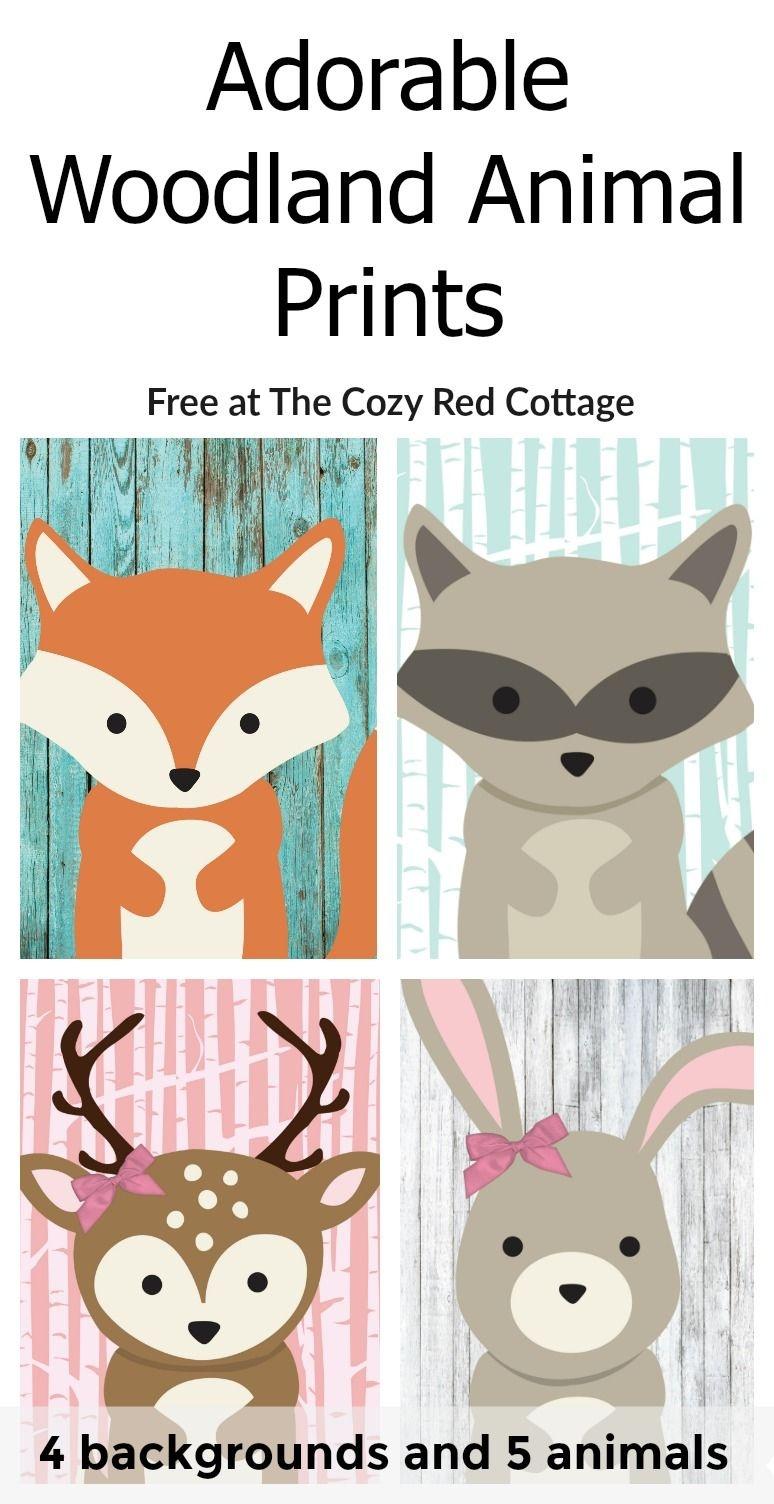 Free Woodland Animal Prints | Babies Room | Woodland Animal Nursery - Free Woodland Animal Printables