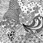 Free Zen Doodle Design Adult Coloring Page | Free Printable Coloring   Free Printable Doodle Patterns