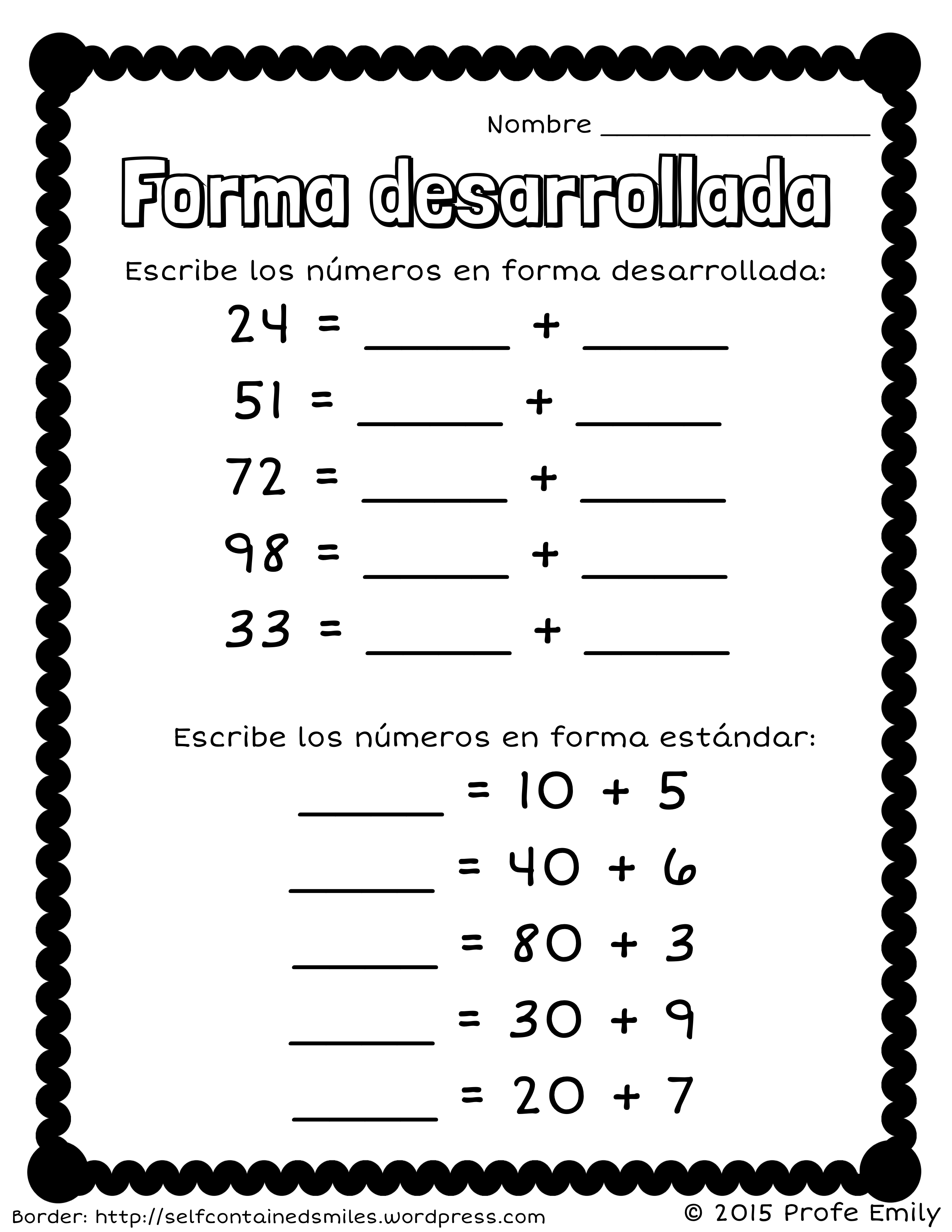 Freebie! Forma Desarrollada. Quick Place Value Worksheet To Review - Free Printable Place Value Chart In Spanish