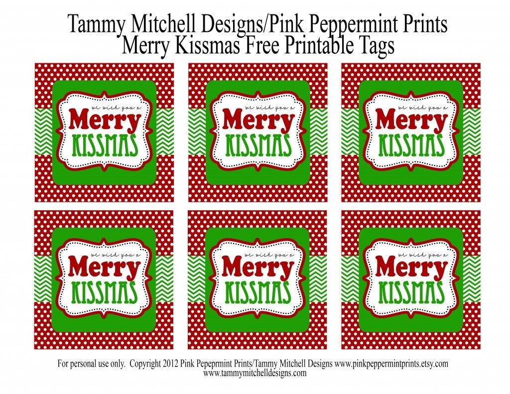Freebie: Free Printable Christmas Tag: We Wish You A Merry Kissmas - We Wash You A Merry Christmas Free Printable