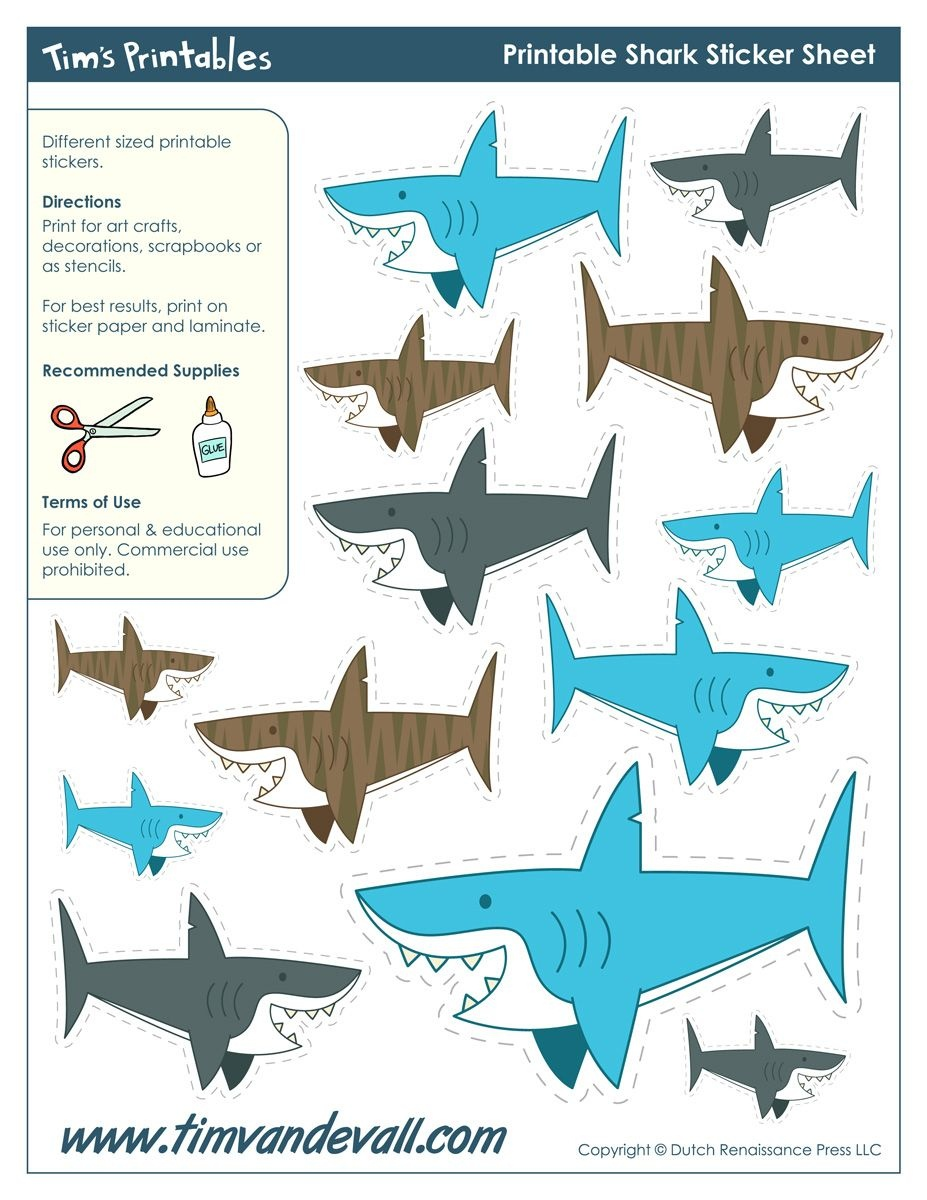 Freebie Friday: 10 Free Shark Printables | Shark Birthday Ideas - Free Shark Printables