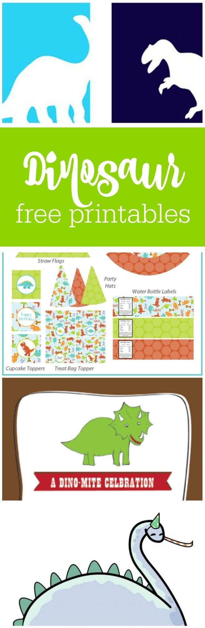 Freebie Friday: Free Dinosaur Party Printables   Baby Ninjas Bday - Free Printable Dinosaur Labels