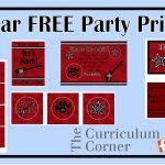 Freebie Rock Star Party Printables For Your Rock Star's Birthday   Free Printable Rockstar Birthday Invitations
