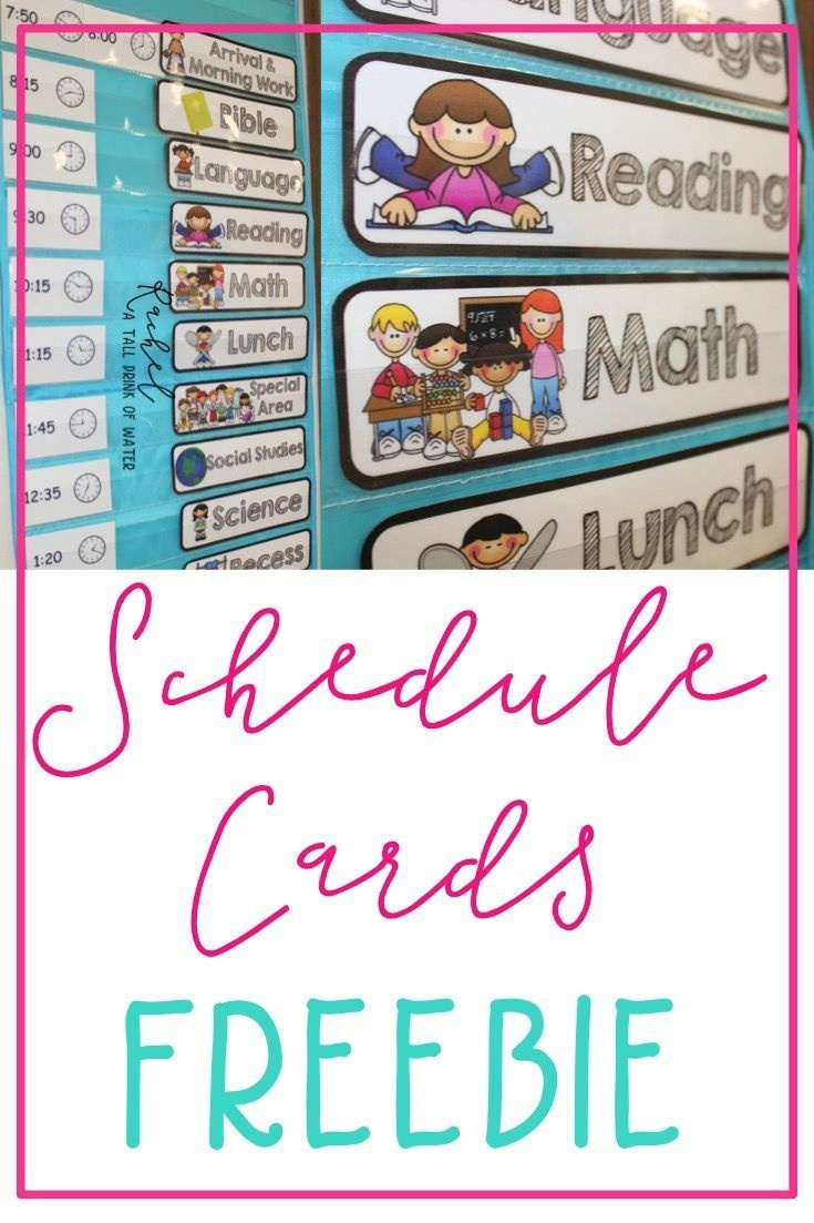 Freebie Schedule Cards | Classroom (When I Go Back :) | Preschool - Free Printable Classroom Labels With Pictures