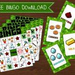 Freebies | Kid Stuff | Minecraft Party Games, Minecraft Birthday   Free Printable Minecraft Bingo Cards