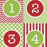 Free+Printable+Advent+Calendar+Numbers | Christmas Food | Christmas   Free Printable Advent Numbers