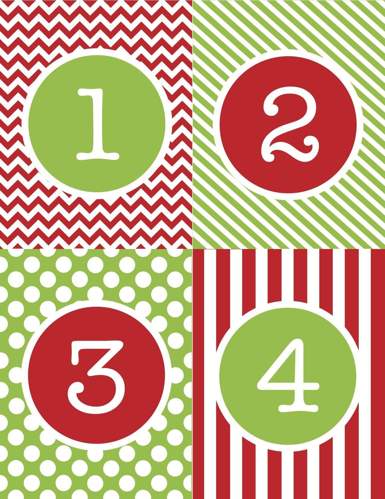 Free+Printable+Advent+Calendar+Numbers | Christmas Food | Christmas - Free Printable Advent Numbers