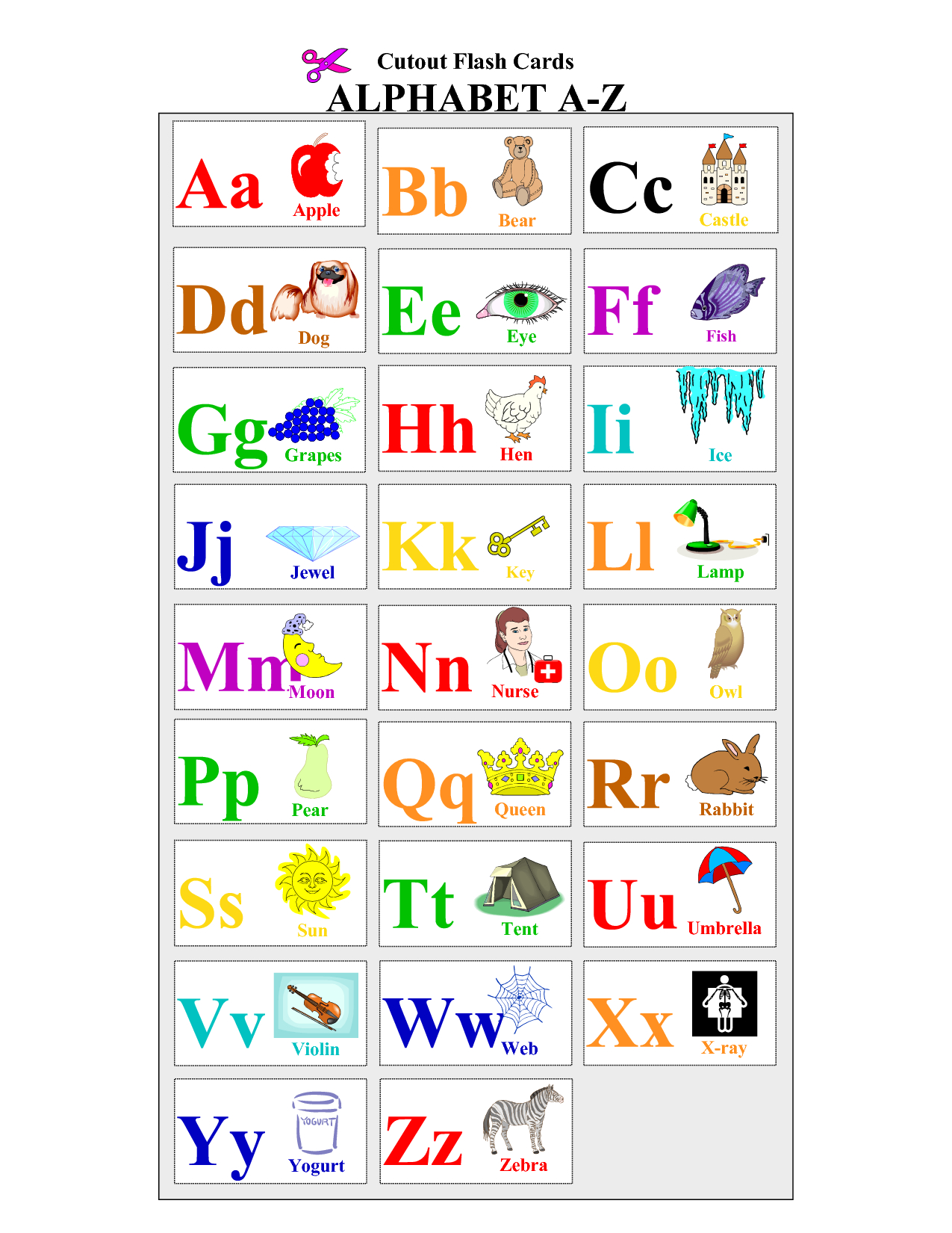 Free+Printable+Alphabet+Letters+Flash+Cards | English Act | Letter - Spanish Alphabet Flashcards Free Printable