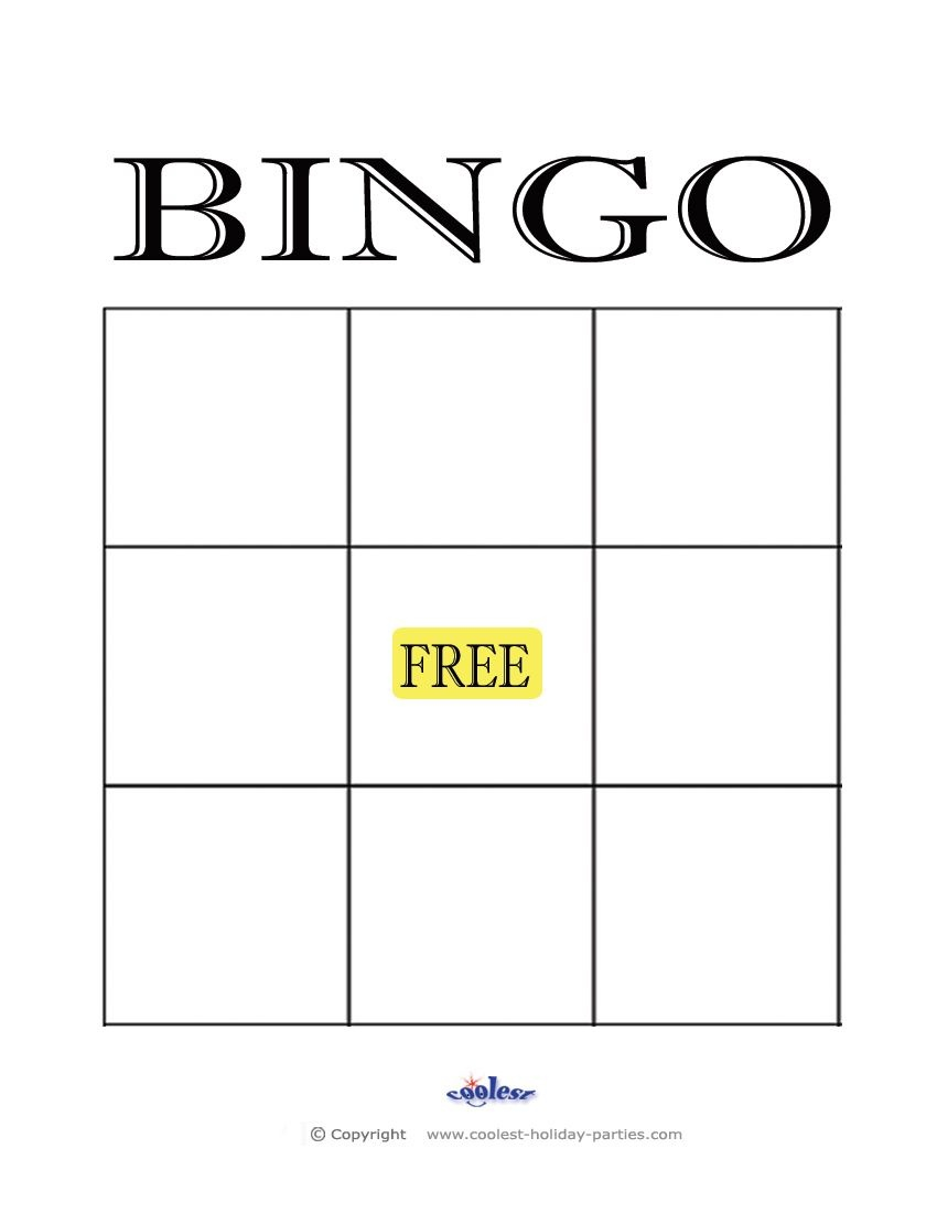 Free+Printable+Blank+Bingo+Cards+Template | Kidsrock | Bingo Card - Free Printable Bingo Maker