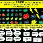 Friday Freebie – Comic Book Super Hero Party Printables   Free Superhero Party Printables