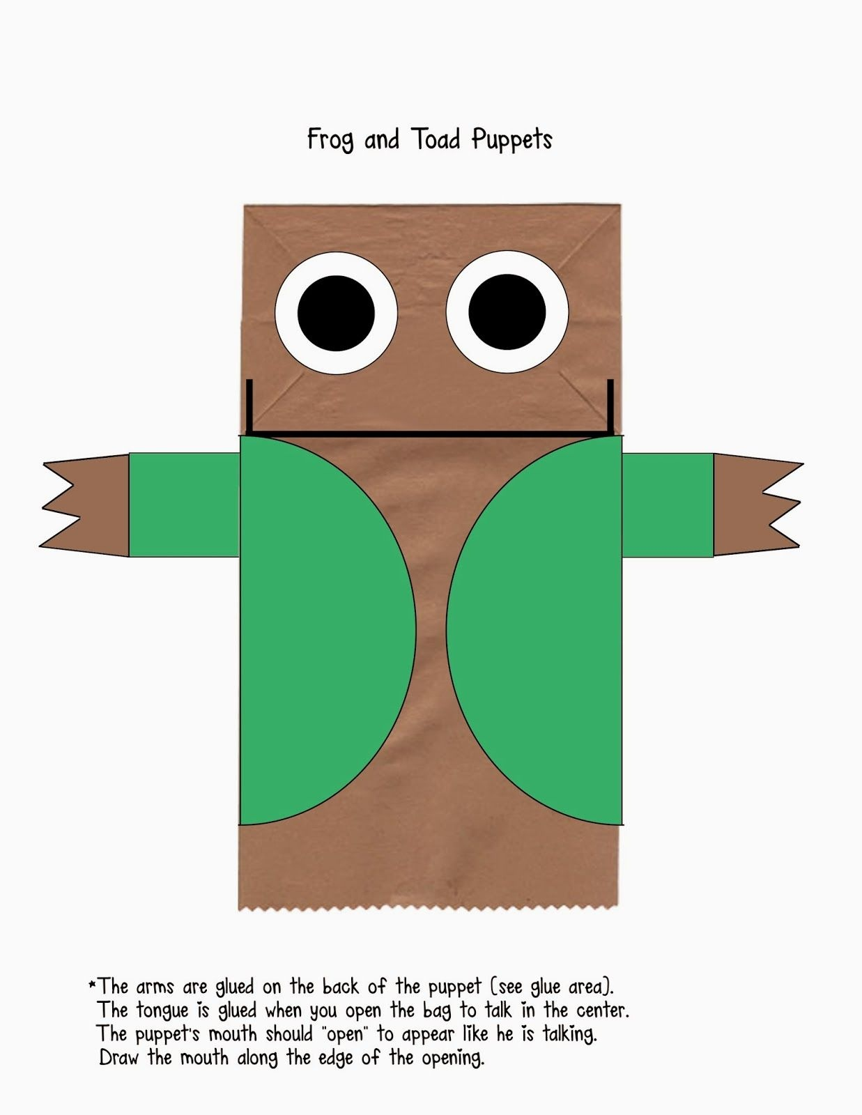 Frog And Toad Puppets. Free Printables To Make Your Own To Go With - Free Frog And Toad Are Friends Printables