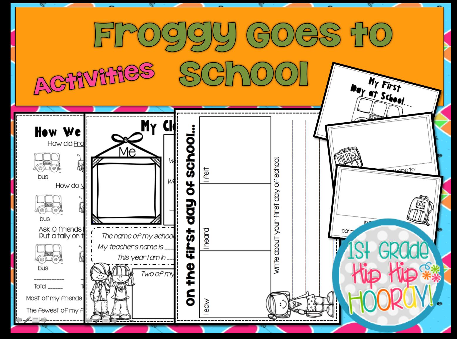 Froggy Goes To School Activities | Sites Education - Froggy Goes To School Free Printables