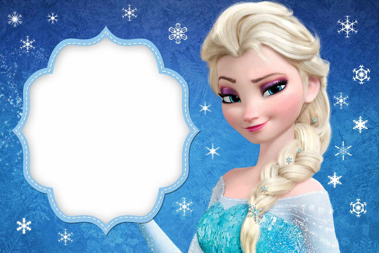Frozen: Free Printable Cards Or Party Invitations. - Oh My Fiesta - Free Printable Frozen Birthday Cards