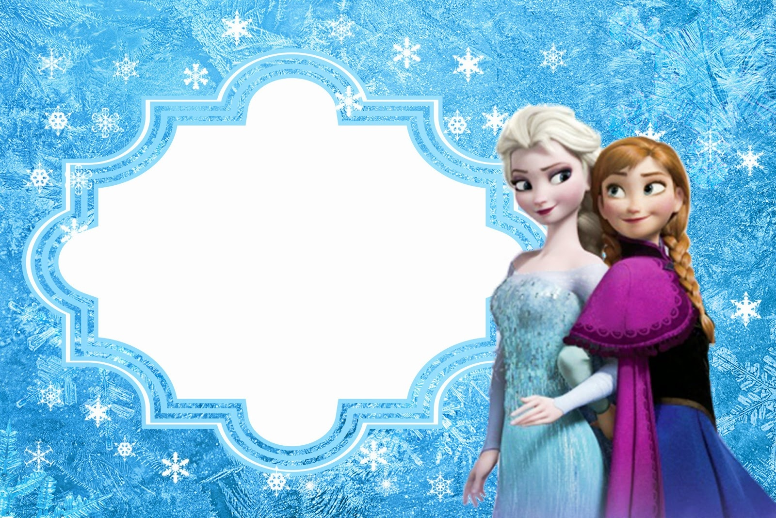 Frozen: Free Printable Cards Or Party Invitations. - Oh My Fiesta - Free Printable Frozen Birthday Invitations