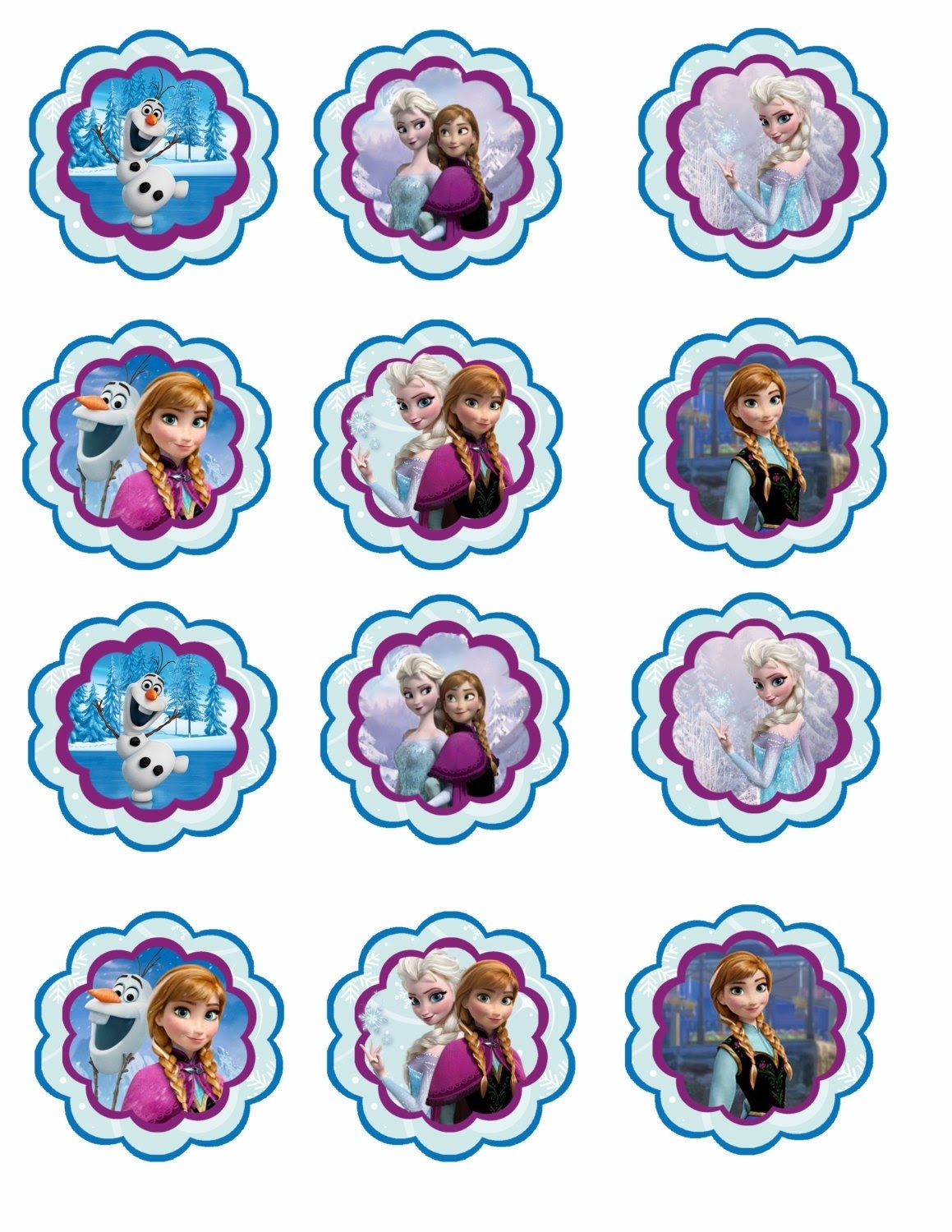 Frozen: Free Printable Toppers. - Oh My Fiesta! In English - Free Frozen Printables