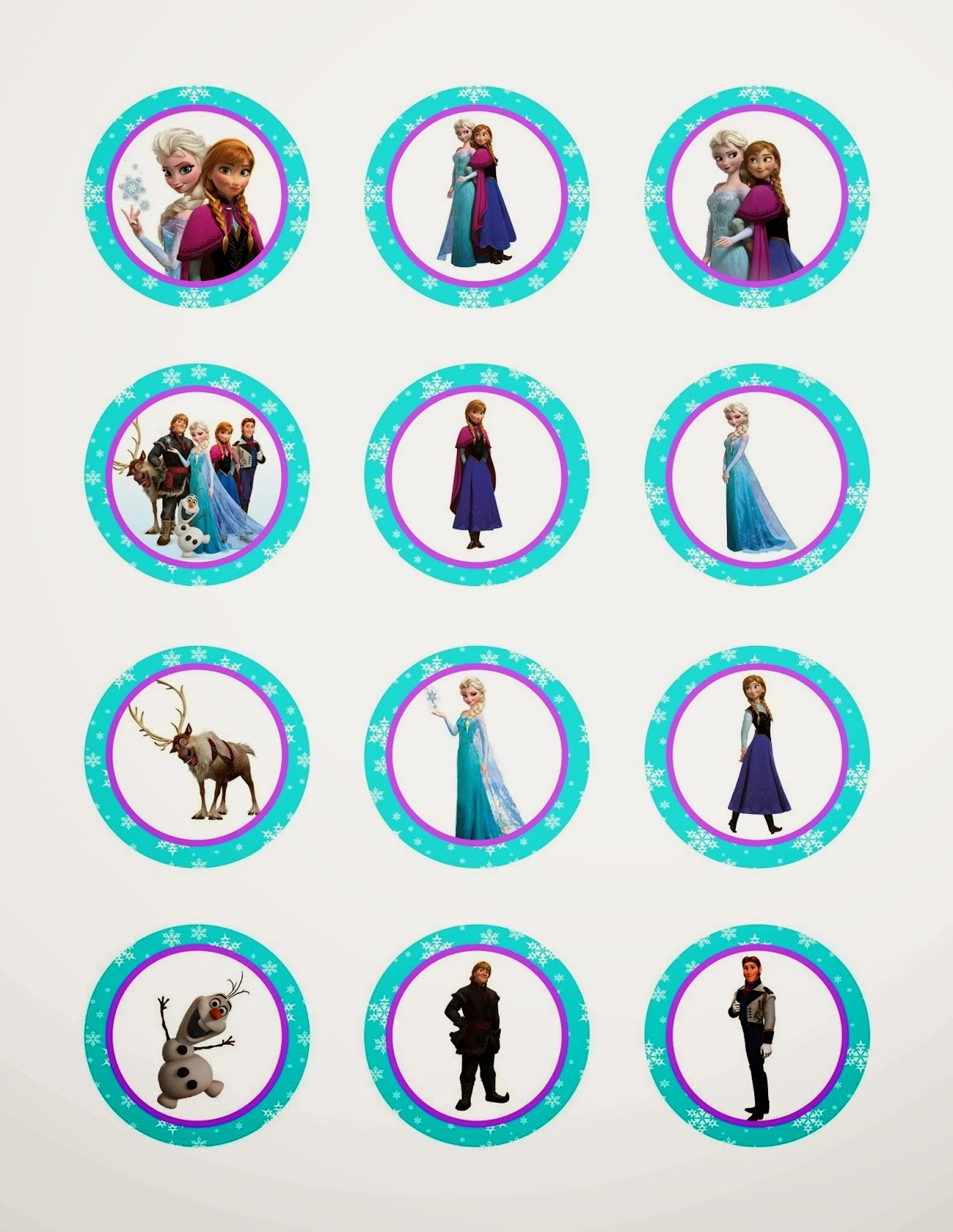 Frozen: Free Printable Toppers. - Oh My Fiesta! In English - Frozen Cupcake Toppers Free Printable