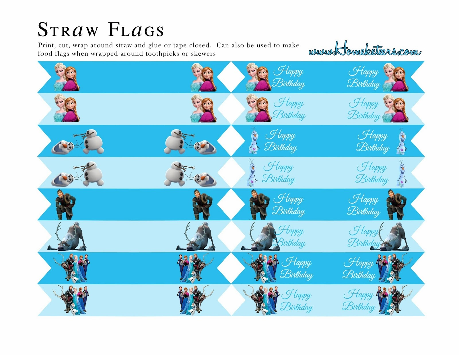 Frozen Party: Free Printables. - Oh My Fiesta! In English - Frozen Birthday Banner Printable Free