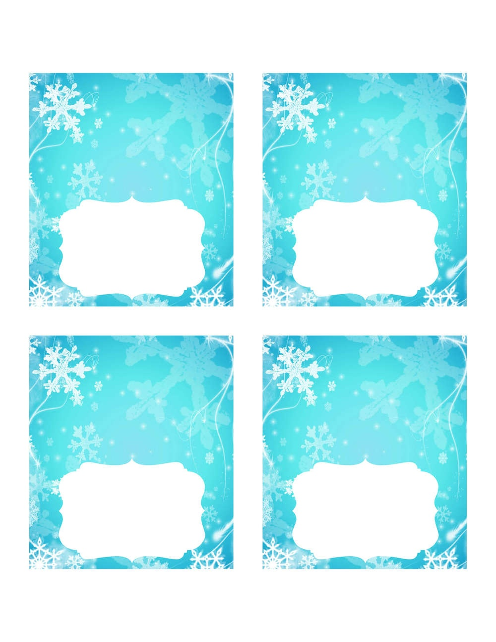 Frozen Party Ideas With Free Printables - Free Printable Food Cards