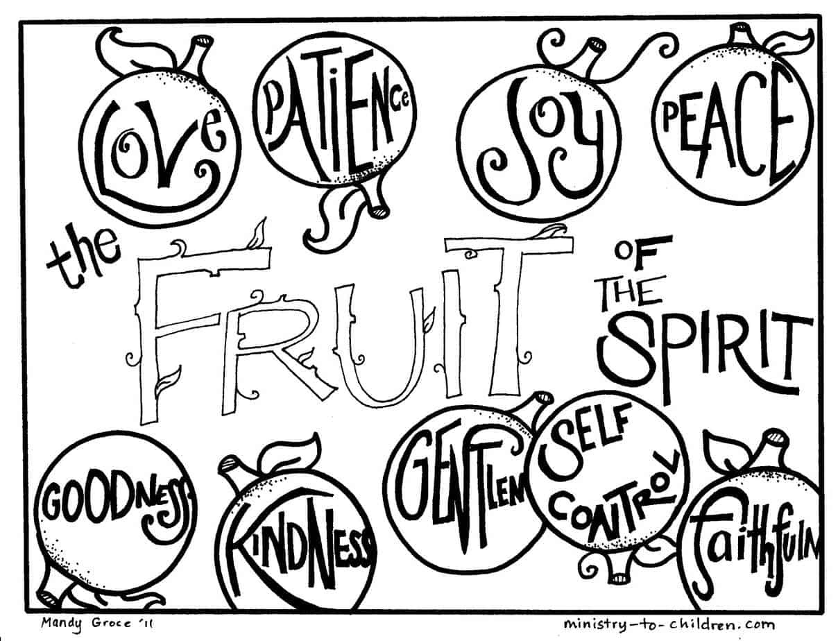 Fruit Of The Spirit Coloring Pages (Free Printables) - Fruit Of The Spirit Free Printable