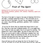 Fruit Of The Spirit Sunday School Lesson   Free Printable Sunday School Lessons For Kids