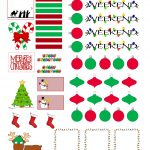 Full Faith ::..: Christmas Free Sticker Printable | Planners   Free Printable Holiday Stickers