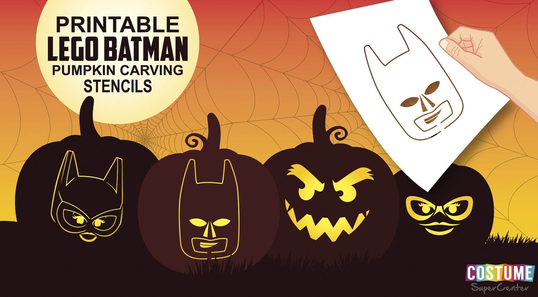 Fun And Free Printable Themed Pumpkin Carving Stencils — All For The - Superhero Pumpkin Stencils Free Printable