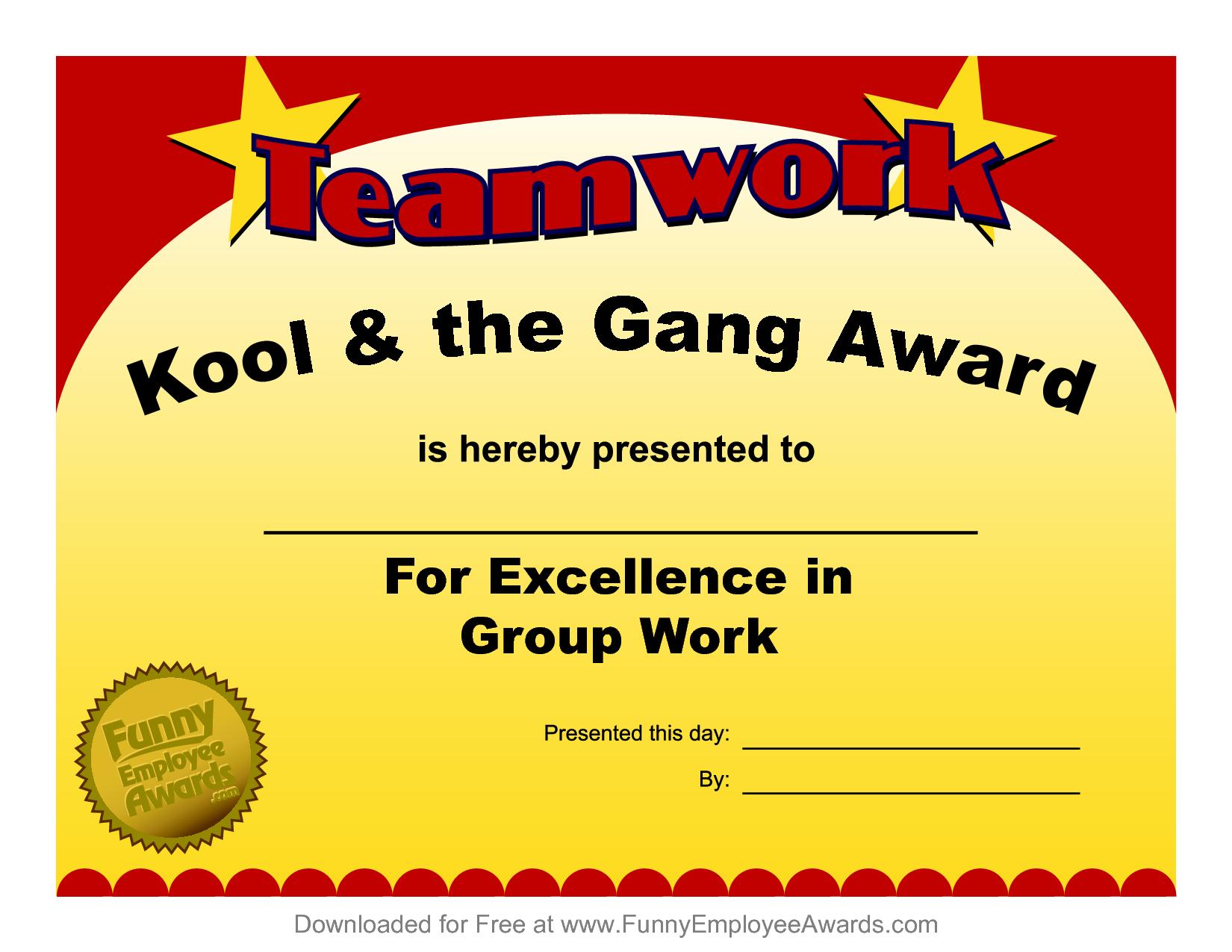 Fun Award Templatefree Employee Award Certificate Templates Pdf - Free Printable Funny Office Awards