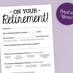Fun Retirement Party Game Printable Pdf Card | Etsy   Retirement Party Games Free Printable