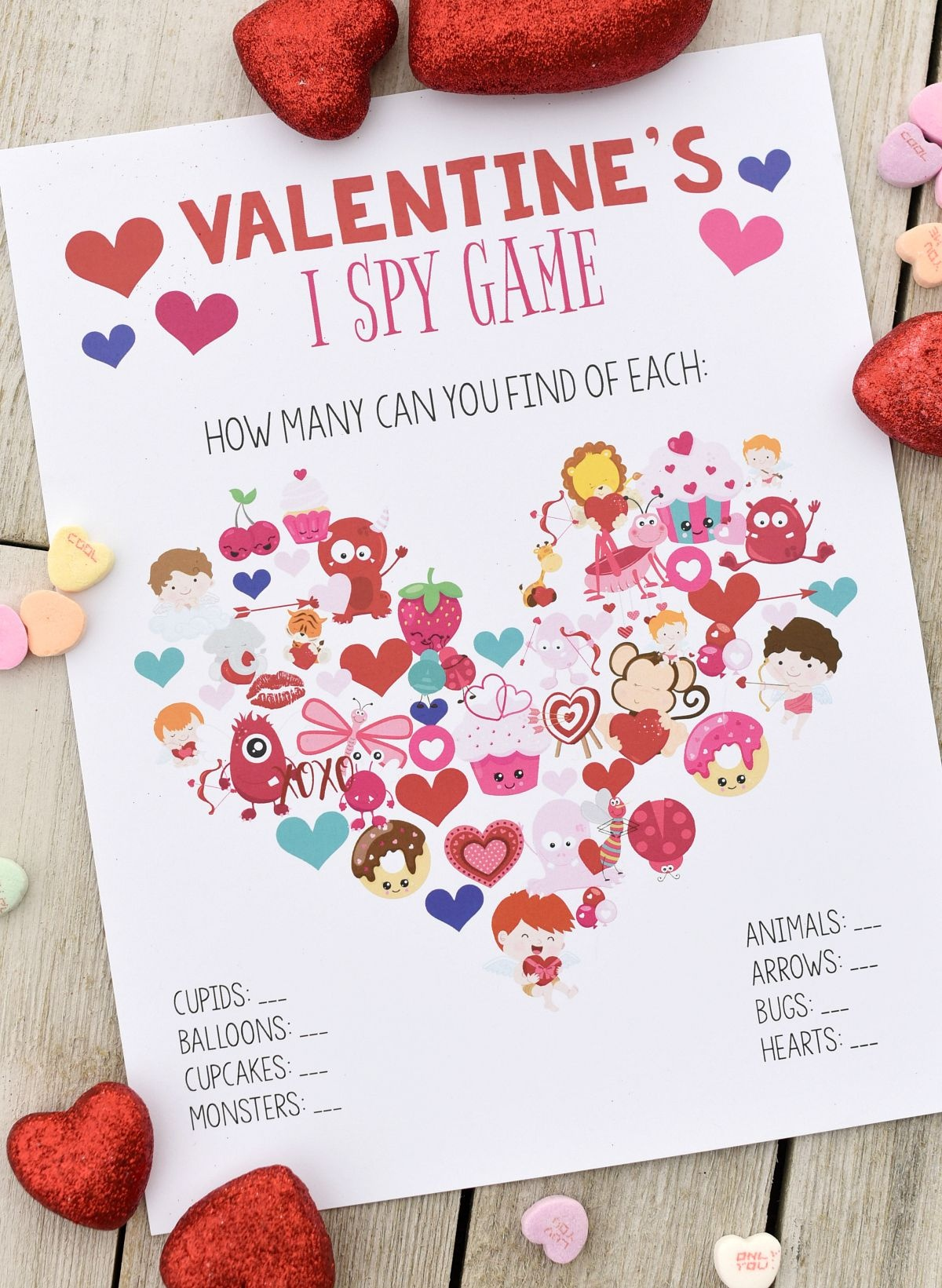 Fun Valentine Games To Print & Play | Valentine's Day | Valentines - Free Printable Valentine Party Games For Adults